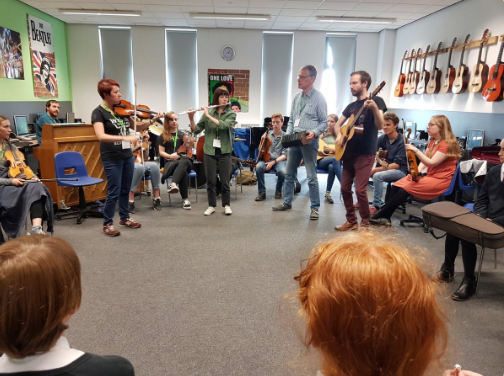 Alistair Anderson & Northlands, with Folkestra in school